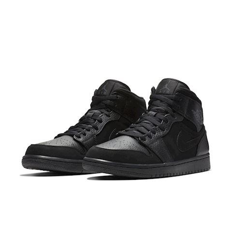 Nike Air Jordan 1 Mid Men's Shoe - Black Image 2
