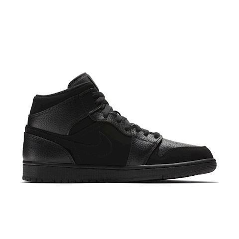 Nike Air Jordan 1 Mid Men's Shoe - Black Image 3