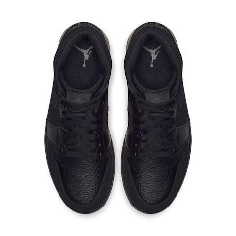 Nike Air Jordan 1 Mid Men's Shoe - Black Image 4