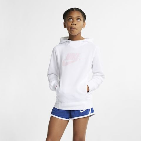 Nike Sportswear Older Kids' (Girls') Graphic Pullover Hoodie - White Image