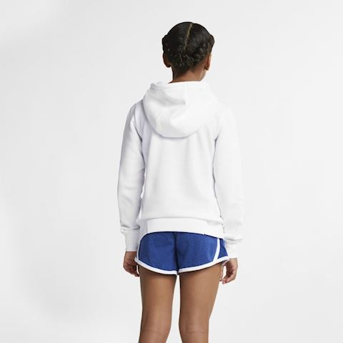 Nike Sportswear Older Kids' (Girls') Graphic Pullover Hoodie - White Image 2