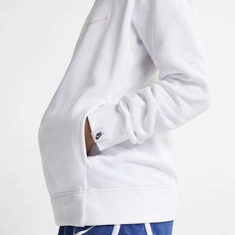 Nike Sportswear Older Kids' (Girls') Graphic Pullover Hoodie - White Image 3