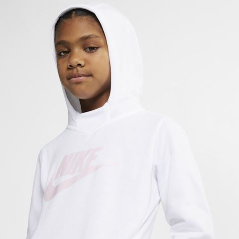 Nike Sportswear Older Kids' (Girls') Graphic Pullover Hoodie - White Image 4