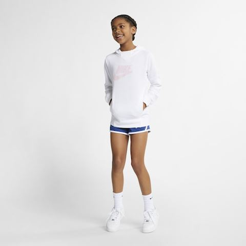 Nike Sportswear Older Kids' (Girls') Graphic Pullover Hoodie - White Image 5