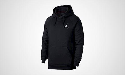 Nike Jordan Jumpman Air Men's Fleece Pullover Hoodie - Black Image