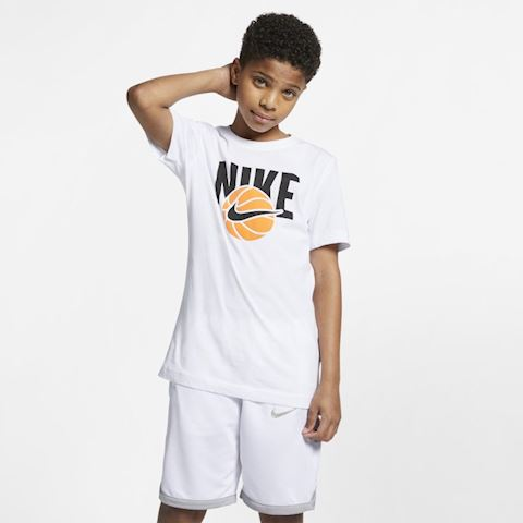 db07345d Nike Sportswear Older Kids' (Boys') T-Shirt - White | AR5266-100 ...