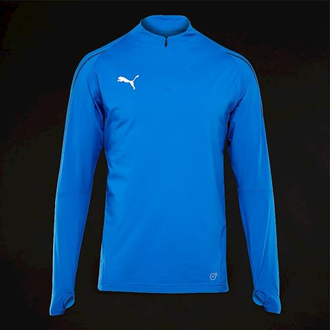 135f4bcc Puma Final Training 1/4 Zip Top - Electric Blue Lemonade/Puma Black