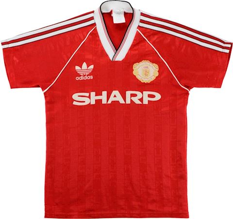 adidas Manchester United Kids SS Home Shirt 1988/90 Image 3
