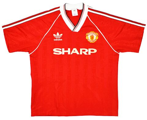 adidas Manchester United Kids SS Home Shirt 1988/90 Image 4