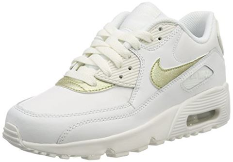 Nike Air Max 90 Leather Older Kids' Shoe - White Image