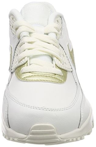 Nike Air Max 90 Leather Older Kids' Shoe - White Image 11
