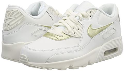 Nike Air Max 90 Leather Older Kids' Shoe - White Image 12