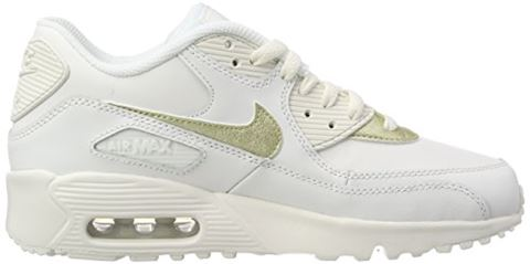 Nike Air Max 90 Leather Older Kids' Shoe - White Image 13