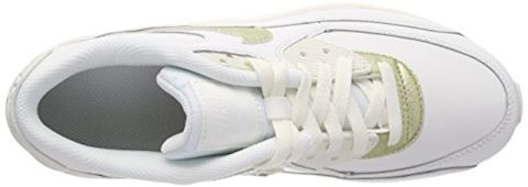 Nike Air Max 90 Leather Older Kids' Shoe - White Image 14
