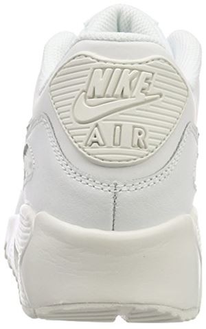 Nike Air Max 90 Leather Older Kids' Shoe - White Image 2
