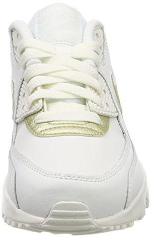 Nike Air Max 90 Leather Older Kids' Shoe - White Image 4