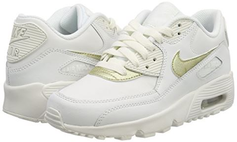 Nike Air Max 90 Leather Older Kids' Shoe - White Image 5