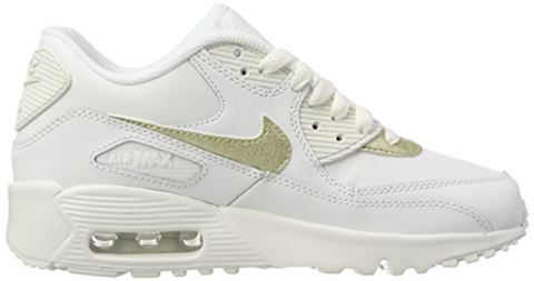 Nike Air Max 90 Leather Older Kids' Shoe - White Image 6