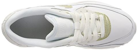 Nike Air Max 90 Leather Older Kids' Shoe - White Image 7
