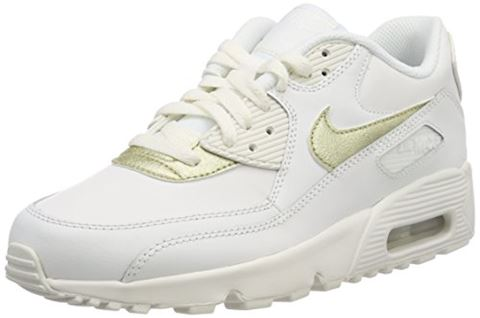 Nike Air Max 90 Leather Older Kids' Shoe - White Image 8