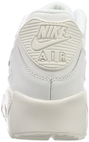 Nike Air Max 90 Leather Older Kids' Shoe - White Image 9