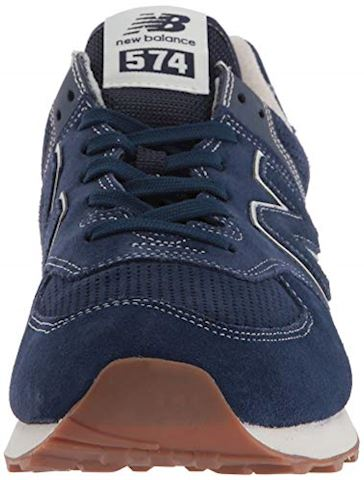 New Balance  ML574  women's Shoes (Trainers) in Blue Image 4