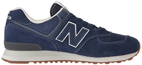 New Balance  ML574  women's Shoes (Trainers) in Blue Image 7