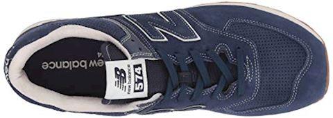 New Balance  ML574  women's Shoes (Trainers) in Blue Image 8