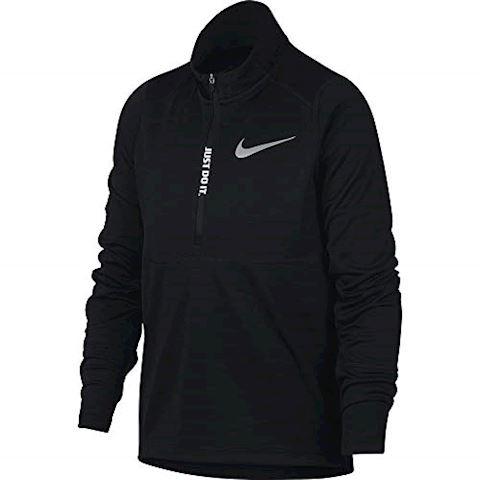 Nike Older Kids'(Boys') Half-Zip Running Top - Black Image 2