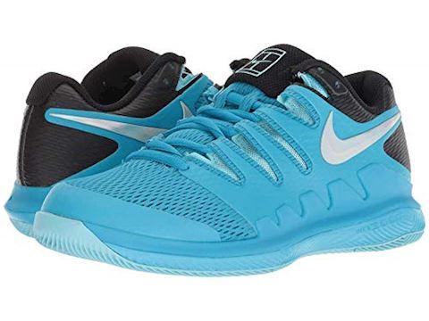 NikeCourt Air Zoom Vapor X HC Women's Tennis Shoe - Blue Image 2