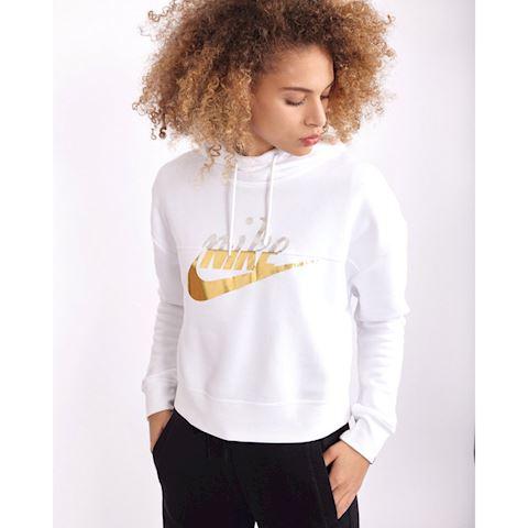 ca3b5dd468b0 Nike Sportswear Rally Women s Metallic Pullover Hoodie - White Image