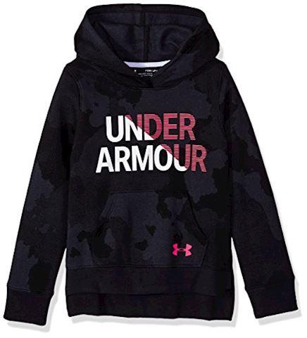 Under Armour Girls' UA Rival Fleece Wordmark Hoodie Image