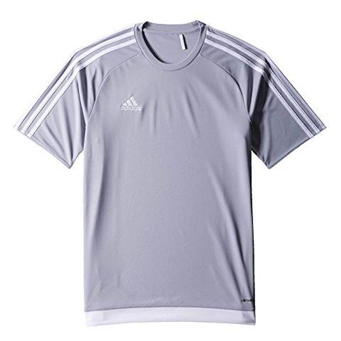 adidas Estro 15 SS Jersey Light Grey White Image