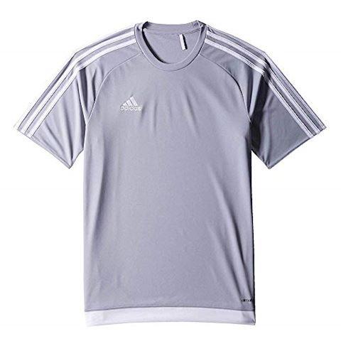 adidas Estro 15 SS Jersey Light Grey White Image 4