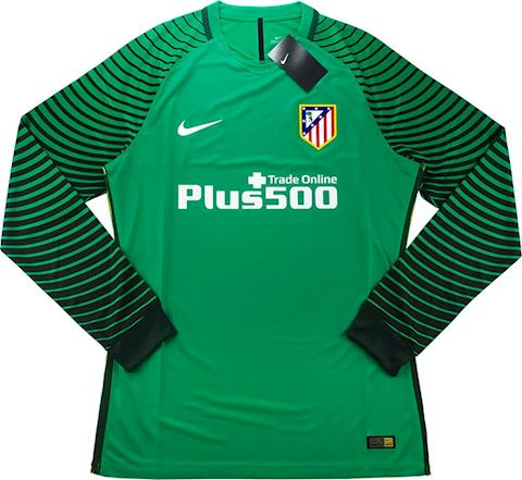 Nike Atlético Madrid Mens LS Goalkeeper Player Issue Home Shirt 2016/17 Image