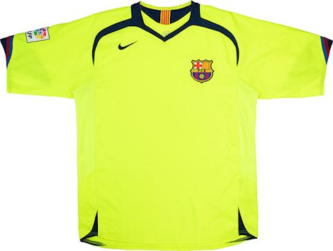 Nike Barcelona Kids SS Away Shirt 2005/06 Image