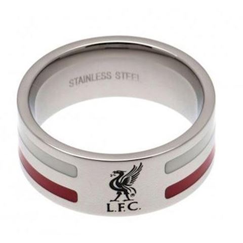 Liverpool Colour Stripe Liverbird Band Ring - Stainless Steel Image