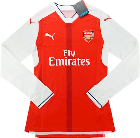 Puma Arsenal Mens LS Player Issue Home European Shirt 2016/17 Image 3