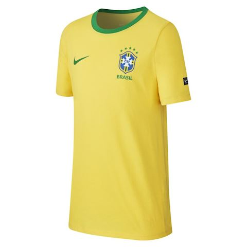 Nike Brazil CBF Crest Older Kids' (Boys') T-Shirt - Gold Image