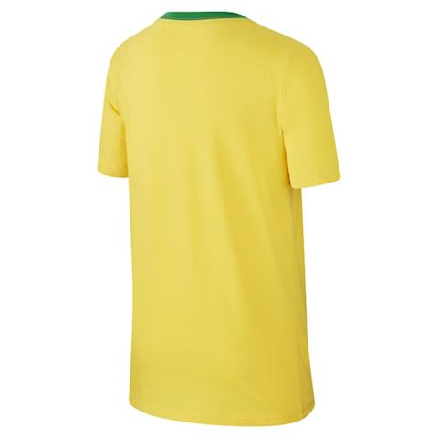 Nike Brazil CBF Crest Older Kids' (Boys') T-Shirt - Gold Image 2