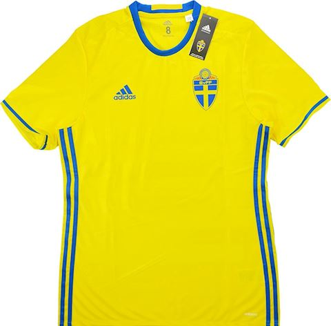 adidas Sweden Mens SS Player Issue Home Shirt 2016 Image