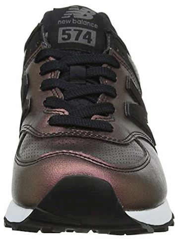 New Balance  WL574  women's Shoes (Trainers) in Black Image 4