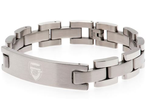 Arsenal FC - Crest - Stainless Steel and Leather - Bracelet Image