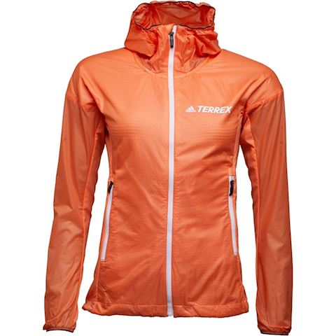 0336e95a1 adidas Womens TERREX Agravic Alpha Hooded Shield Jacket Easy Orange Image