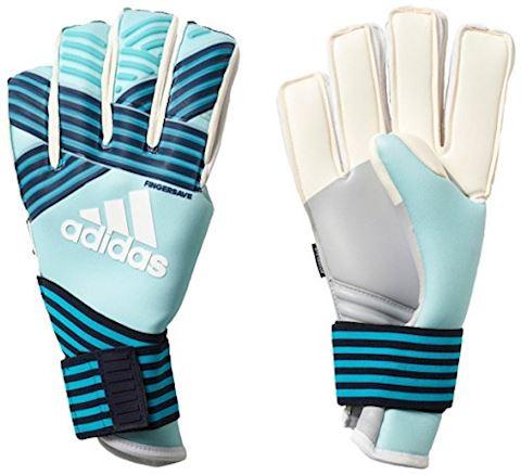 adidas ACE Goalkeeper Gloves Trans Fingersave Pro - Energy Aqua/Energy Blue/Legend Ink