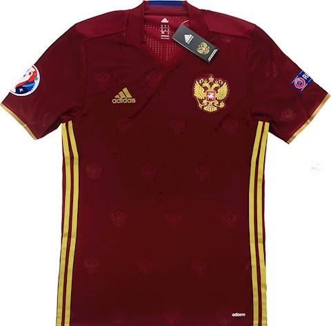 adidas Russia Mens SS Player Issue Home Shirt 2016 Image 3