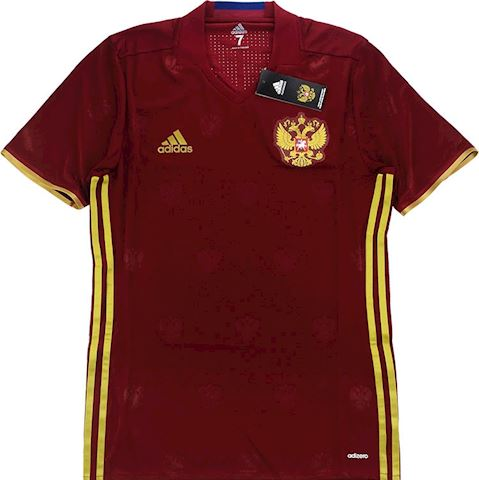 adidas Russia Mens SS Player Issue Home Shirt 2016 Image 4