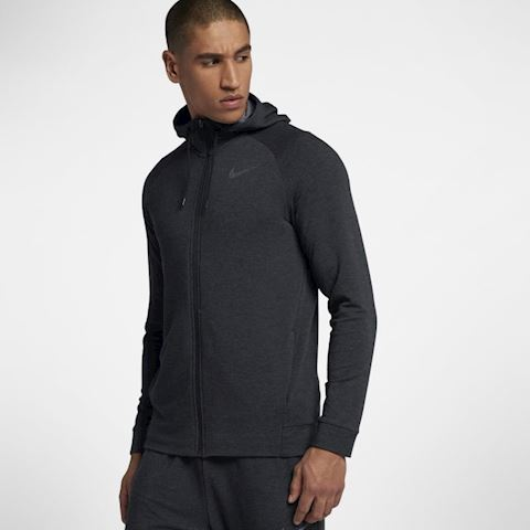 Nike Dri-FIT Men's Full-Zip Training Hoodie - Black Image