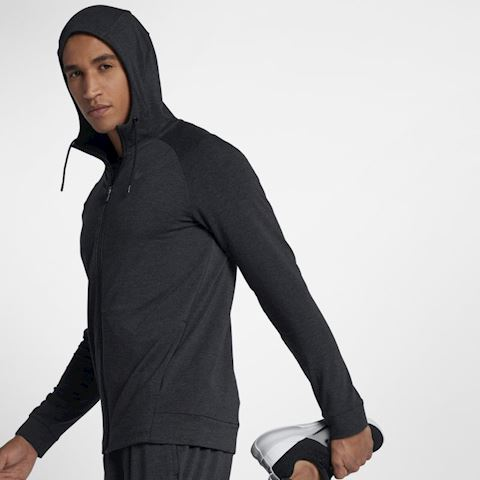 Nike Dri-FIT Men's Full-Zip Training Hoodie - Black Image 2