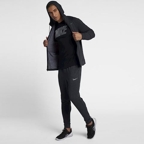 Nike Dri-FIT Men's Full-Zip Training Hoodie - Black Image 3